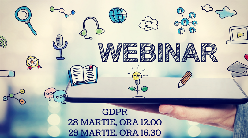 Free Online Webinars Organized by ACCA in Cooperation with Avocatnet.ro: GDPR