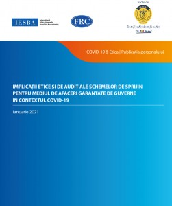 """A new IFAC publication translated into Romanian: """"Ethical and auditing implications arising from government-backed covid-19 business support schemes"""""""
