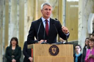 Eleodor Mandres, secrétaire d'Etat dans le Ministère des Finances Publiques, a transmis le message du Ministre des Finances Publiques, Eugen Orlando Teodorovici